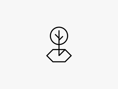 Green space green park tree nature minimal clean modern icon simple logo