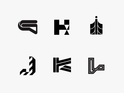 36daysoftype 2 letterform modernism monogram minimal clean modern icon simple logo