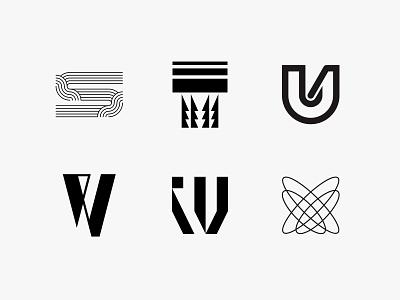 36daysoftype 4 36daysoftype letterform monogram minimal clean modern icon simple logo