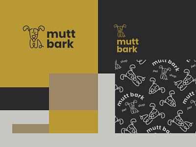 Mutt Bark cute dog pet animal nature modern icon simple logo