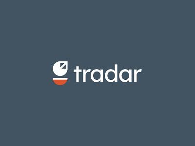 tradar satellite radar minimal clean modern icon simple logo