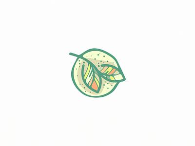 organic leaf feminime food eat healthy nature leaf mark icon design logo