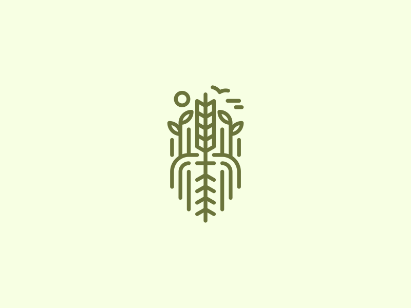 so much nature green monoline cafe food earth healthy nature leaf root logo
