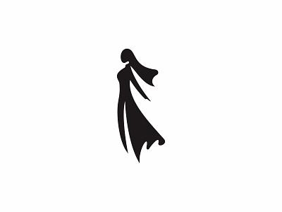 Girl in Ao Dai hair vietnam girl lady woman simple icon logo