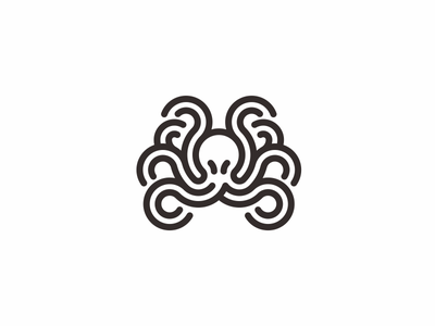 octopus old gods tentacle octopus line animal icon logo