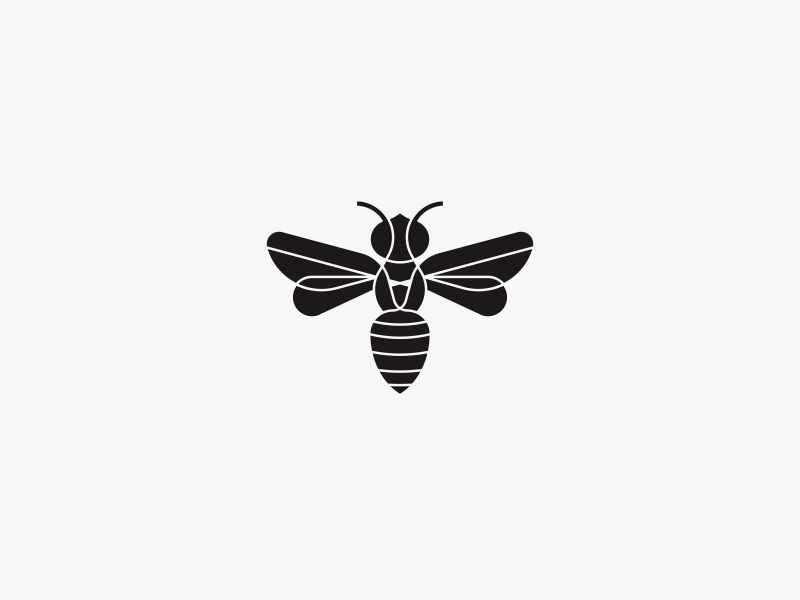 Handsome Bee Logo By Catur Argi On Dribbble