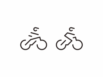 MTB bicycle mountain bike bike modern minimal simple icon logo