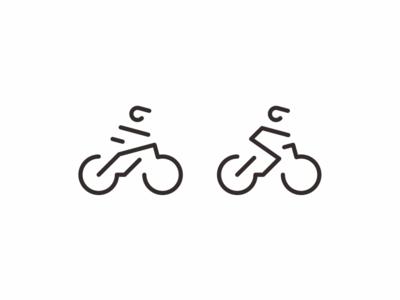 MTB bicycle mountain bike bike modern minimal simple icon logo