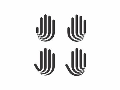 Previous exploration metro city hand modern minimal simple icon logo