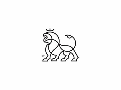 Lion Logo king lion wild lineart animal modern simple logo