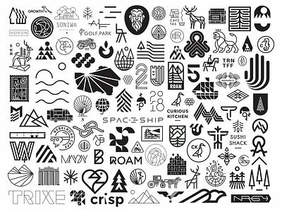 2018 wrap up! simple branding 2018 modern logo