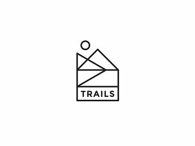 Trails trail mountain nature clean simple logo