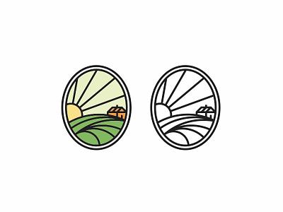 Agri nature sun village farm agriculture logo