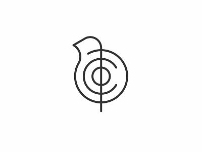 Robin Co minimal lineart bird icon simple logo