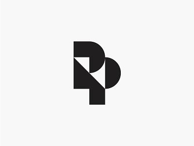 RP modern initial letter monogram simple logo
