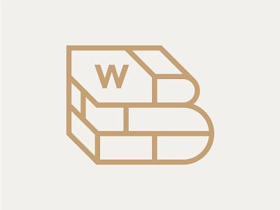 West Bricks wall bricks icon simple logo