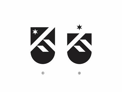 Legacy Village mountain modern star village badge logo