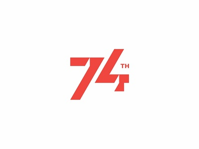 74th indonesia number clean modern simple logo