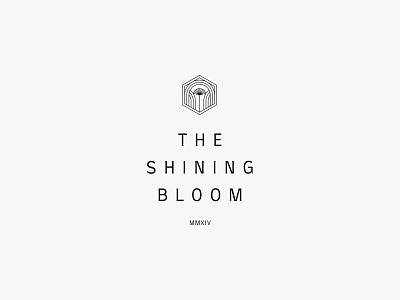 Shining Bloom nature clean lineart minimal flower artdeco icon simple logo