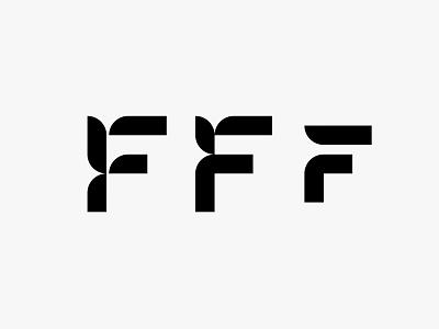 FFF lettermark monogram clean modern icon simple logo