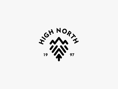 High North adventure outdoor mountain nature icon simple logo