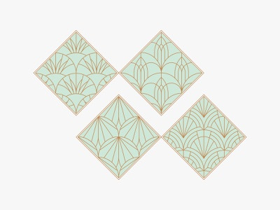 Some Fish Scale Artdeco classic branding illustration vintage art deco pattern