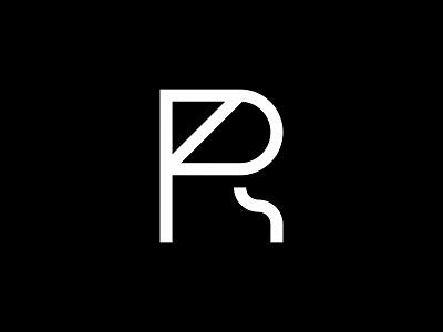 PR monogram minimal clean modern simple logo