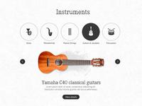 Instruments shop