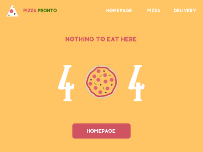 Daily UI #008 - 404 PAGE fun pizza daily ui 404