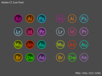 Icon Pack Adobe Circle (Download)