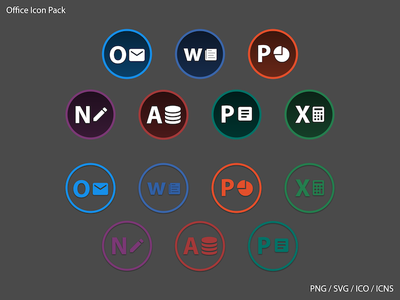 Icon Pack Office Circle (Download) circle office pack free download icon
