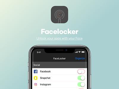 Facelocker IOS icon ui faceid iphone x ios