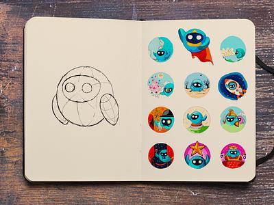 Sketch for VPNETTE drawing character sketch illustration