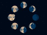 Moon Phase Circle