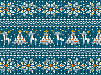 Ugly sweater blue x-mas pattern sweater winter