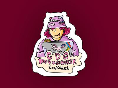 Sticker gdg illustration character sticker girl