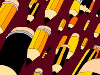 Falling pencils
