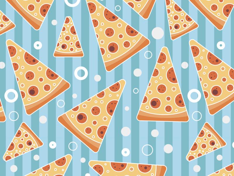 Pattern #77 wallpaper pizza pattern flat illustration