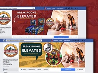 Facebook Cover Page Design - Rocky Mountain Pinball Company