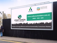 Craftsmen Quality Builders Site Signage Design