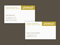 ONNO Business Card Design