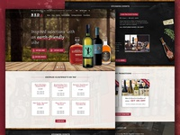 Red: Wine, Beer and Spirits Shop Concept