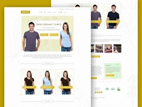 ONNO T-shirt Company Website Concept 1