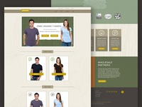 ONNO T-shirt Company Website Concept 2