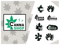 """Canna Shop"" Weed Gadgets Co. logodesign symbol sign bud cannashop logo logotype gadgets 420 weed cannabis"