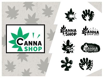"""Canna Shop"" Weed Gadgets Co. logodesign symbol sign bud cannashop logo logotype gadgets 420 weed cannabis"