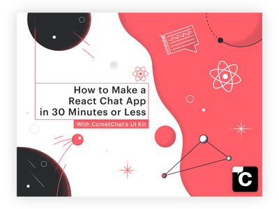 """""""Comechat"""" Illustrated banner design space react illustrator ui affinity texturized minimalistic graphic banner design banner illustration"""