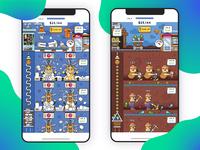 Wool/Gems Mining Game UI
