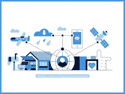 """""""Connected Devices"""" icon illustration outline vector illustration dribbble best shot vector behance smartwatch smart home satelite stylish smart cartoon icon design stroke graphic art connected devices internet of things wearables"""