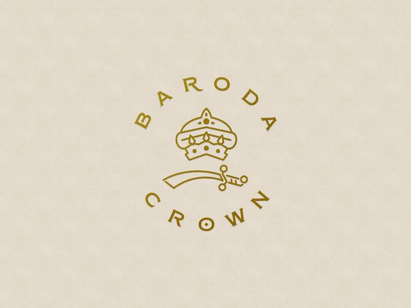 Baroda Crown — Family Crest icon sword crown baroda crown baroda indian royal family crest giakwad maratha indian crest royal crest family crest crest